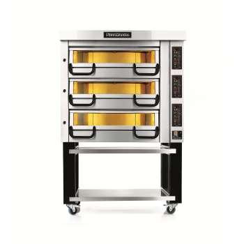 Piec do pizzy sterowany elektronicznie 3-komorowy, 12x pizza 350 mm, 20,1 kW, komory o wymiarach 710x710x210 mm | PIZZA MASTER, PM 723ED